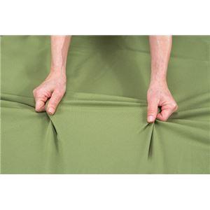 伸縮フィット式ソファーカバー(タテヨコストレッチ)3人掛用肘付き グリーン