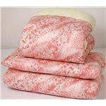 綿混合掛布団軽量敷布団セットピンク系 国産和仕立ての画像