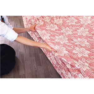 イタリア製 ソファーオールカバー 【オレンジ 3人掛け用】 洗える ジャカード織 『ヴィエラ』