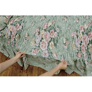 イタリア製 シャーリングソファーカバー 【3人掛け用】 洗える ジャカード織 『フィオレッラ』