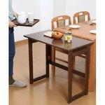 木製 折りたたみテーブル/補助机 【高さ69cm ナチュラル】 幅80cm 木目調 【完成品】 の画像