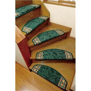 ヨーロピアン階段マット 15枚組グリーン