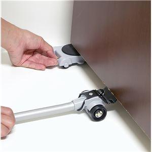 リフターセット/家具移動用具 【リフター×1 台車×4】 日本製 ABS樹脂 スチール PVC ウレタン 『NEW らくらくヘルパーセット』 の画像