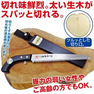 簡単お手入れ ノコギリ/鋸 【刃長24cm】 日本製 テフロン加工 錆びにくい仕様 白紙2号 木製柄付き 『鋸切れ味世界一 華』