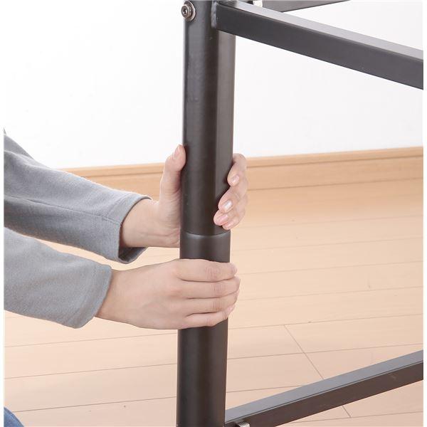 高さ調節可能ロフトベッド ホワイト キシミ低減マット使用