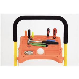 便利なトレー付き 脚立/踏み台 【3段】 折りたたみ式 コンパクト収納 【完成品】