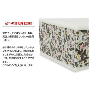 ドッグステップ/ペット用品 【ブラウン ラージ】 日本製 抗菌 難燃PVCレザー 高弾力ウレタン使用 〔犬 猫〕