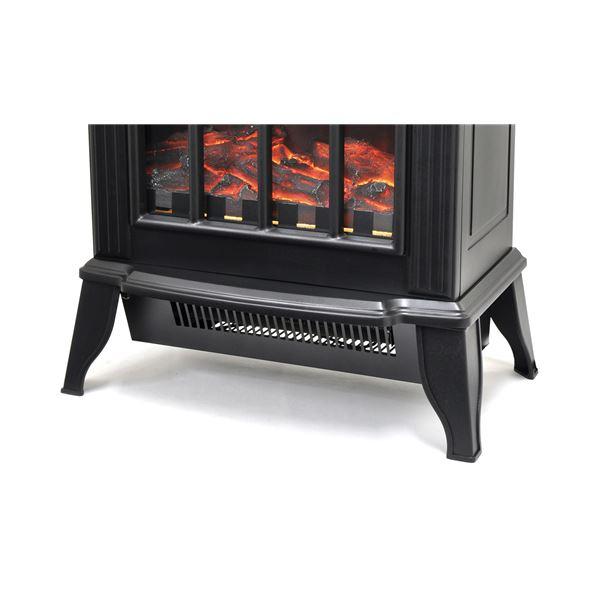 速暖!暖炉型ファンヒーター黒
