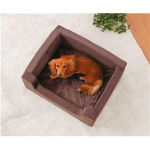 高反発 ペットベッド 【Mサイズ】 幅58cm 洗えるカバー付き 蒸れ対策 型崩れ対策仕様 〔犬 猫 リビング〕