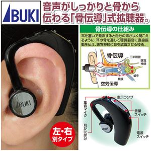 骨伝導拡聴器「ボン・ボイス」右耳用 耳掛け式