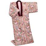 英国羊毛 かいまき布団/寝具 【ピンク】 幅約150×長さ約200cm 増量タイプ ウール100% 表地綿製 チンチラ調生地製衿付き