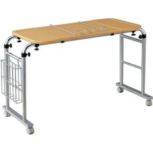 伸縮式 センターテーブル/パソコンデスク 【約幅124〜163cm】 キャスター付き マガジンラック付き 天板 角度調節付き