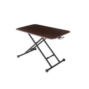 ローテーブル/センターテーブル 【ブラウン】 幅85〜103cm 木製 スチール キャスター付き 『NEW らくらく昇降式フリーテーブル』
