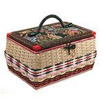 昔懐かしい手編み裁縫箱