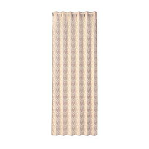 間仕切り用 レースカーテン/パーテーション 【100×250cm】 ベージュ 日本製 洗える カットできる 『パタパタカーテン』