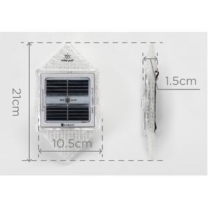 折り畳み可能なソーラー充電式ランタン ソーラーパフ warm light(暖色)
