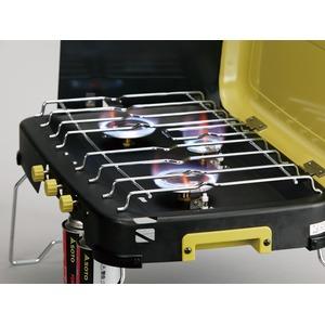 3バーナー/キャンプ用品 【ワンアクション圧電点火方式】 ガスシンクロナスシステム 『SOTO』
