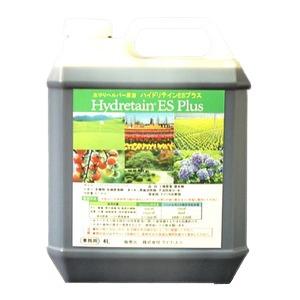 水やりヘルパー原液 ハイドリテインESプラス 4L 業務用 /植物用土壌保水剤 保湿材