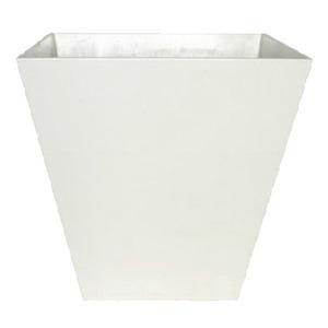 底面給水型 植木鉢/プランター 【スクエア型 ホワイト 幅25cm】 底栓付 『アートストーン』 〔園芸 ガーデニング用品〕