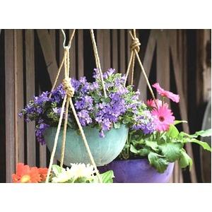 底面給水型 植木鉢/プランター 【ハンギング型 ホワイト 直径25cm】 底栓付 『アートストーン』 〔園芸 ガーデニング用品〕