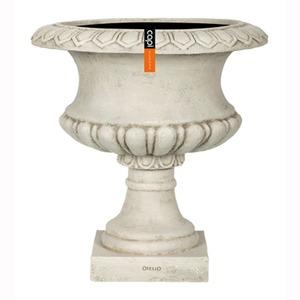 樹脂製軽量ポット (植木鉢/プランター) 【ローカップ型 アイボリー】 直径50cm 防水 UV加工 耐寒 『CAPI』 〔ガーデニング用品〕