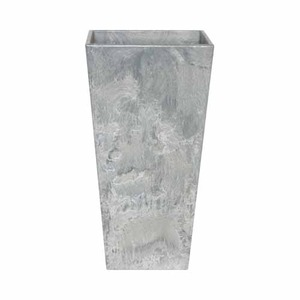 アートストーン トールスクエア グレー 40×H90cm/底面給水型植木鉢(底栓付)