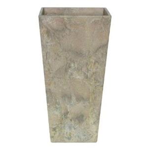 アートストーン トールスクエア ベージュ 35×H70cm/底面給水型植木鉢(底栓付)