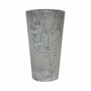 アートストーン トールラウンド グレー φ37×H70cm/底面給水型植木鉢(底栓付)