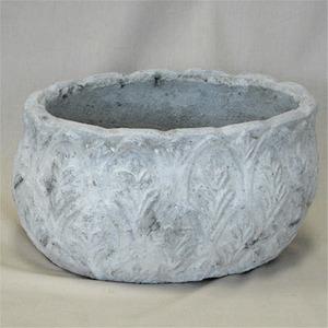 アンティークポット ホワイトガーデン リーフオーバル 26.5x20xH13.5cm /植木鉢