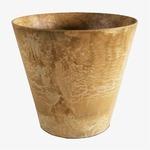【4個入】 底面給水型植木鉢/プランター 【ラウンド型 ベージュ 直径17cm】 底栓付 『アートストーン』 〔園芸用品〕