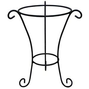 【2個入】植木鉢用アイアンスタンド φ42×高さ47cm C-S アンティークグリーン 〔ガーデニング用品/園芸〕