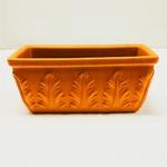 【2個入】 植木鉢/プランター 【幅32cm】 イタリア製テラコッタ鉢 『ローマンプランターA』 〔園芸 ガーデニング用品〕