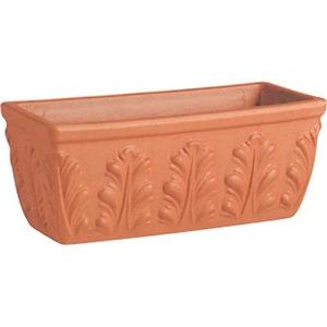 【2個入】植木鉢/プランター【幅42cm】イタリア製テラコッタ鉢『ローマンプランターA』〔園芸ガーデニング用品〕