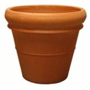 大型植木鉢/プランター 【直径48cm】 イタリア製テラコッタ鉢 『リムポット』 〔園芸 ガーデニング用品〕