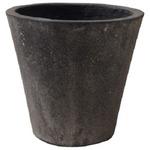 軽量コンクリート製植木鉢 フォリオ ソリッド ブラックウォッシュ 31cm