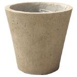 軽量コンクリート製植木鉢 フォリオ ソリッド クリーム 31cm