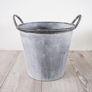 ブリキ製植木鉢 ウーノ スタンダード 穴有り 28×25cm