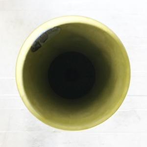 底面給水型 植木鉢/プランター 【トールラウンド型 レモン 直径28cm×高さ49cm】 底栓付 『アートストーン』 〔園芸用品〕