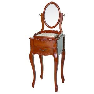 【ペット用家具】Fiore(フィオーレ) 鏡台(ドレッサー) アンティークブラウン