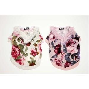 Rose Frill Cardigan S (Pink)