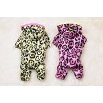 Leopard Rain Coat M ( Pink)