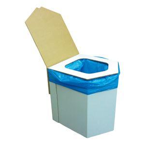 洋式簡易トイレ(凝固剤・袋10回付) BR-001 - 拡大画像