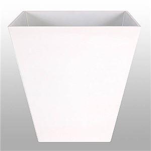 ヴォーグ スクエアー ホワイト 40cm /中底網付(穴無し) /植木鉢