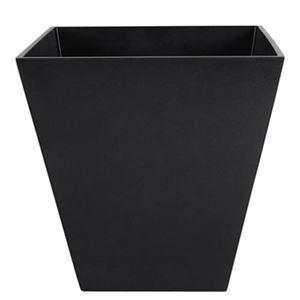 ヴォーグ スクエアー メタリックブラック 40cm /中底網付(穴無し) /植木鉢
