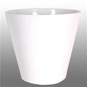 ヴォーグ ラウンド ホワイト 43cm /中底網付(穴無し) /植木鉢