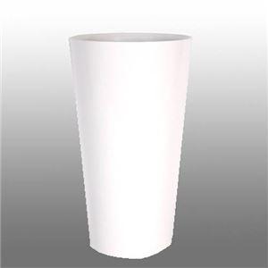 ヴォーグ トールラウンド ホワイトH70cm /中底網付(穴無し) /植木鉢