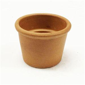 【24個入】イタリア製テラコッタ鉢(植木鉢/プランター) シリンダーポット φ8cm 穴無し 〔ガーデニング用品/園芸〕