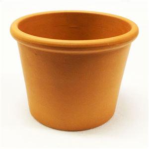 【12個入】イタリア製テラコッタ鉢(植木鉢/プランター) シリンダーポット φ14cm 〔ガーデニング用品/園芸〕