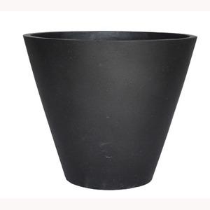 軽量コンクリート製 植木鉢/プランター 【ブラック 直径40cm】 底穴あり 『ストーンライト コニック』