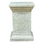 ファイバー製 軽量 植木鉢スタンド/プランタースタンド 【ホワイト 長さ38cm】 底穴なし 『バッセル用花台 ティンダーレ』